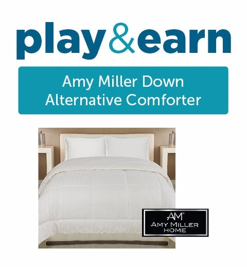 PLAY & EARN AMY MILLER DOWN COMFORTER