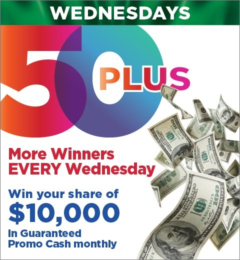 50+ CLUB-MORE WINNERS EVERY WEDNESDAY