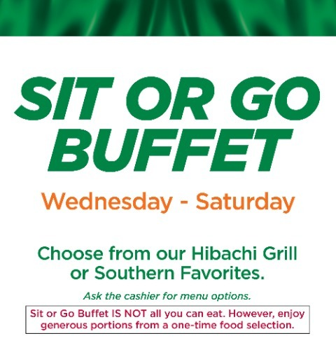 SIT OR GO BUFFET