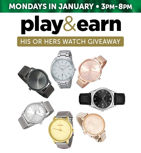 PLAY & EARN HIS OR HERS WATCH GIVEAWAY
